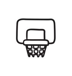 basketball hoop sketch icon vector image