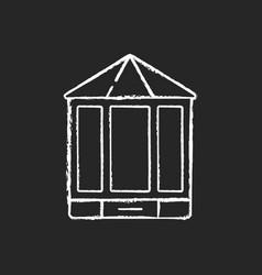 Bay and bow windows chalk white icon on black vector