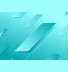Bright cyan abstract geometric minimalism vector