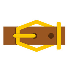 Brown leather belt icon isolated vector
