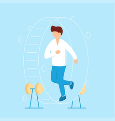 businessman in hamster wheel chasing money and vector image