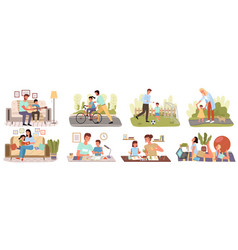 care trust and support between parents vector image