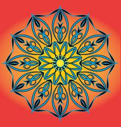 Cartoon circular pattern arts round symbol vector