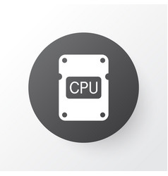 Central processor unit icon symbol premium vector