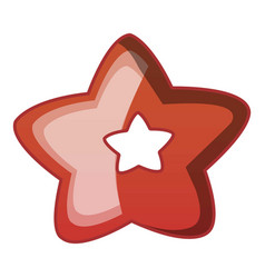 Choco star biscuit icon cartoon style vector