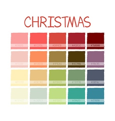 Christmas Colorful Color Tone with Code vector image