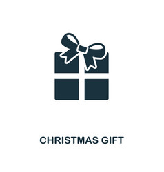 christmas gift icon premium style design from vector image