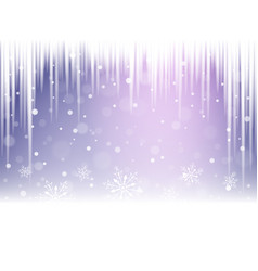 Christmas snowflakes snowdrift and icicles vector