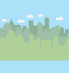 city landscape with skyscrapers in the daytime vector image