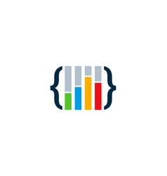 code statistic logo icon design vector image
