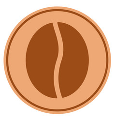 Coffee bean bronze coin vector