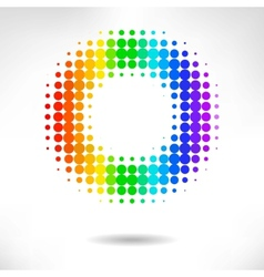 Color dot background vector