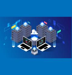 Computation of big data center information vector