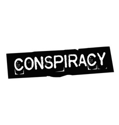 Conspiracy typographic stamp vector