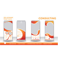 Consulting roll up design template vector