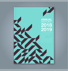 cover annual report 853 vector image