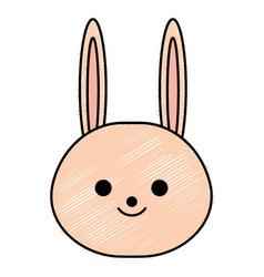 Cute little rabbit character vector