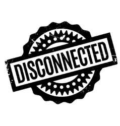 Disconnected rubber stamp vector