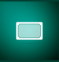 doormat icon on green background welcome mat sign vector image