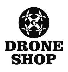 Drone market logo simple style vector