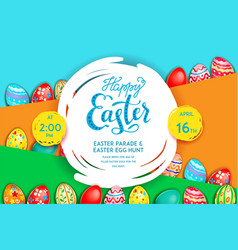 easter holiday template vector image