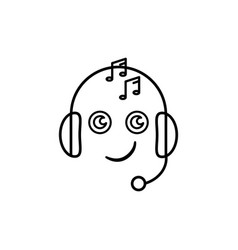 emoji music icon vector image