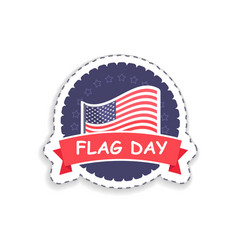 flag day of usa poster title vector image