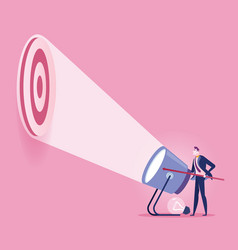 Flashlight target - business concept vector