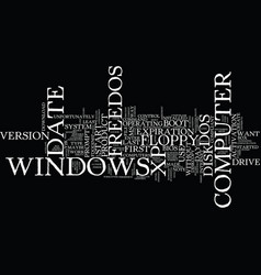 freedos text background word cloud concept vector image