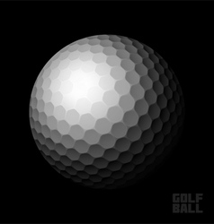 Golf ball on black vector image