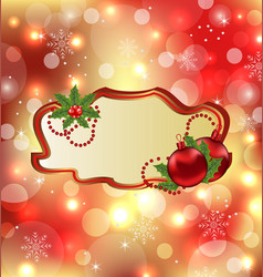 Greeting elegant card with mistletoe and Christmas vector