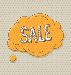 Hand-drawn comic style talk cloud Sale vector