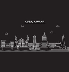 Havana silhouette skyline cuba - havana vector