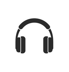 Headphone icon design template isolated vector