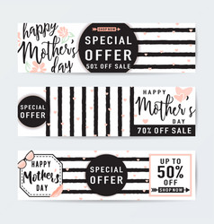 Horizontal banner set for vector