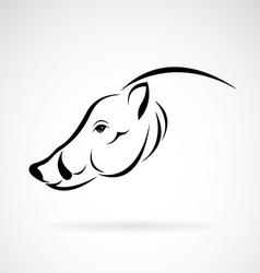 image an boar head design vector image