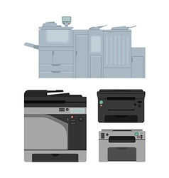 Laser printer vector image