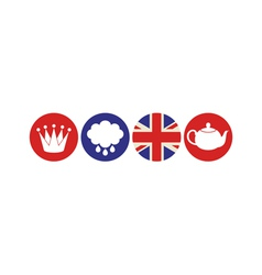 London Icon set vector