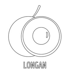 longan icon outline style vector image