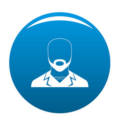 man avatar icon blue vector image