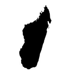 Map madagascar isolated vector