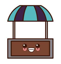 Market stall symbol kawaii cute cartoon vector