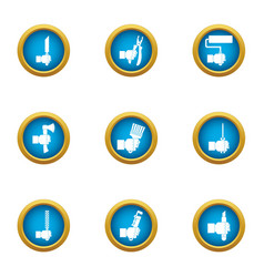Master icons set flat style vector