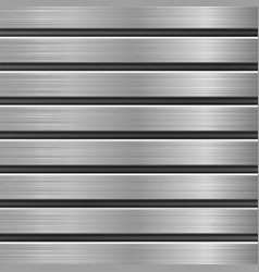 Metal texture with horizontal brushed planks vector
