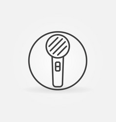 microphone in cirlce thin line concept vector image