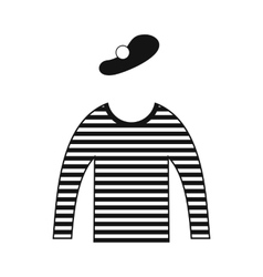 Mime costume icon vector