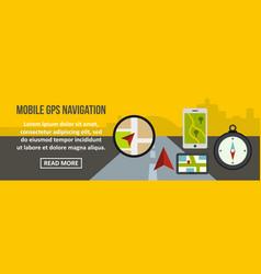 mobile gps navigation banner horizontal concept vector image vector image