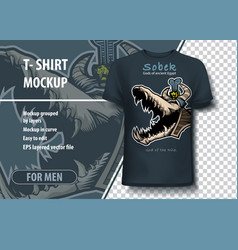 Mockup in for printing on t-shirt god of vector