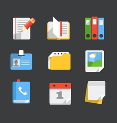 Modern web icons collection vector