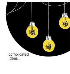 No creativity complicated idea concept simple vector